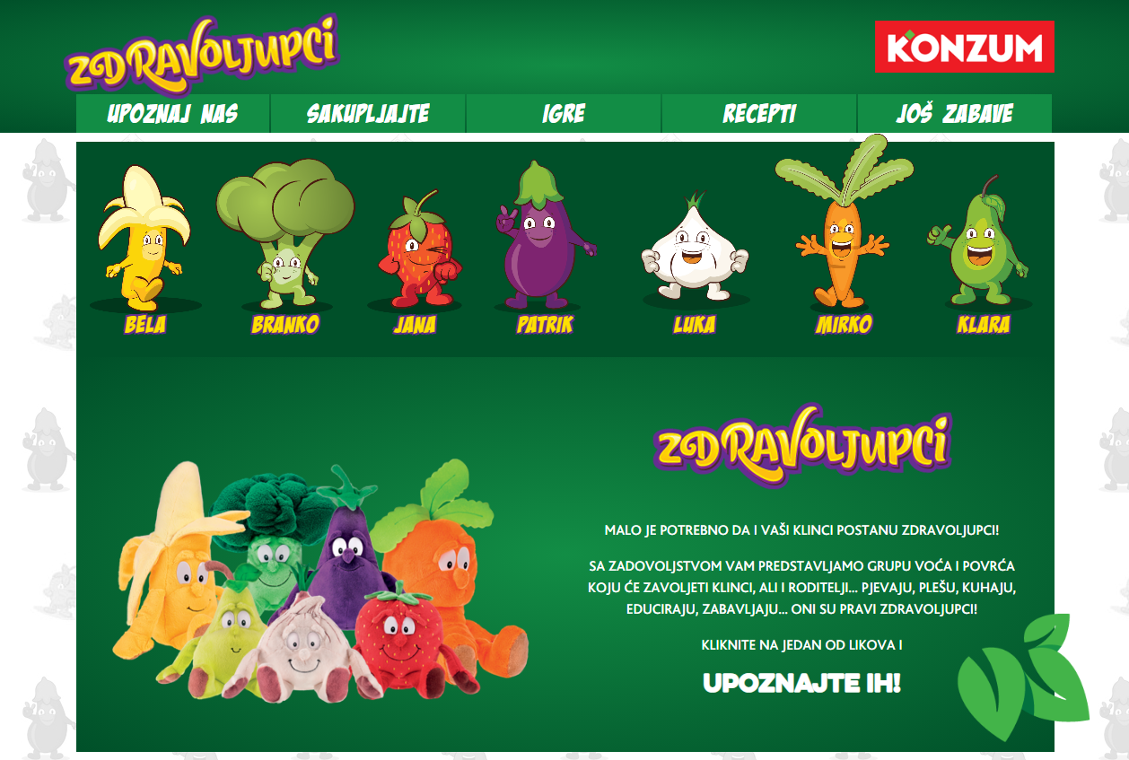 KONZUM's campaign to increase fruit and vegetable consumption