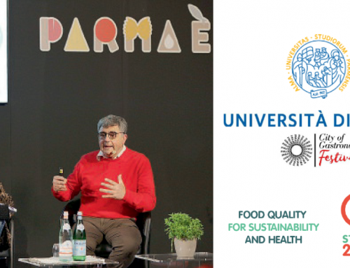 Prof. Filippo Arfini presents Strength2Food at the CIBUS OFF culinary event