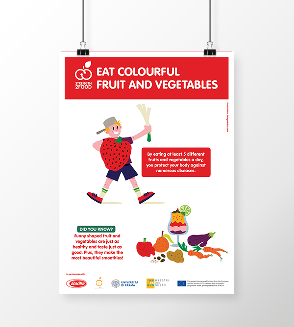 Eat fruit and vegetables poster by Strength2Food